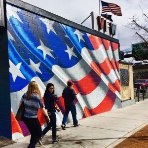 American flag painting VFW post 2461